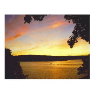 Postal de la puesta del sol de Wallenpaupack del l