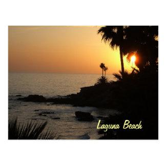 Postal de la puesta del sol del océano del Laguna