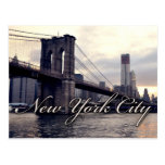 Postal de la puesta del sol del puente de Nueva Yo