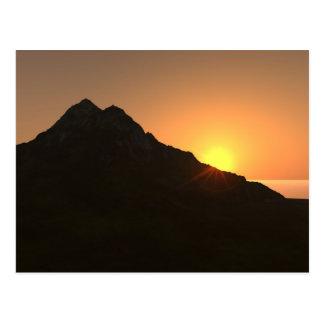 Postal de la puesta del sol hawaiana
