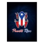 Postal de la rana de Puerto Rico Coqui