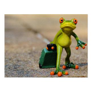 Postal de la rana que viaja