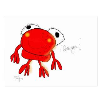 "postal de la ""rana roja"""