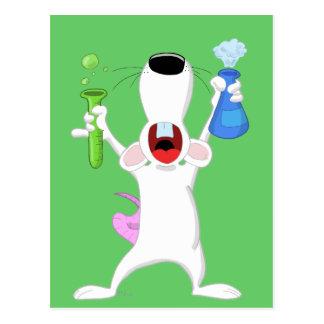 Postal de la rata del laboratorio del tubo de ensa