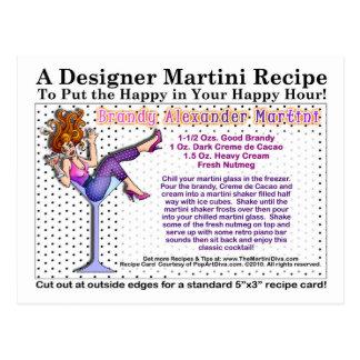 Postal de la receta de Alexander Martini del brand