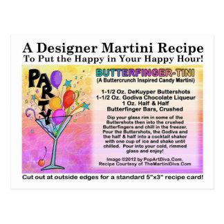 Postal de la receta de Butterfinger-Tini Martini