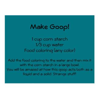 Postal de la receta de Goop