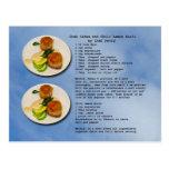 Postal de la receta de las tortas de cangrejo
