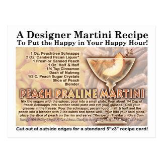 Postal de la receta de Martini de la almendra gara