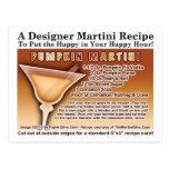 Postal de la receta de Martini de la calabaza