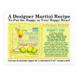 Postal de la receta de Martini de la gota de limón
