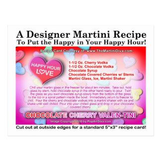 Postal de la receta de Martini de la tarjeta del d