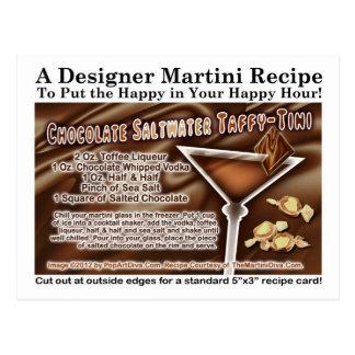 Postal de la receta de Martini del chicloso del