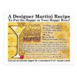 Postal de la receta de Martini del daiquirí del pl