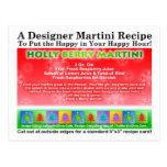 Postal de la receta de Martini del navidad de la b