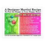 Postal de la receta de Martini del navidad de los