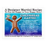 Postal de la receta de Martini del pan de jengibre