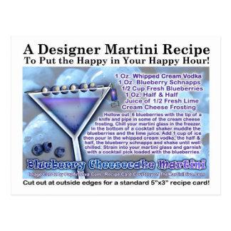 Postal de la receta de Martini del pastel de queso