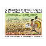 Postal de la receta de Turquía Martini de la acció