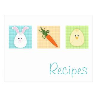 Postal de la receta del trío de Pascua