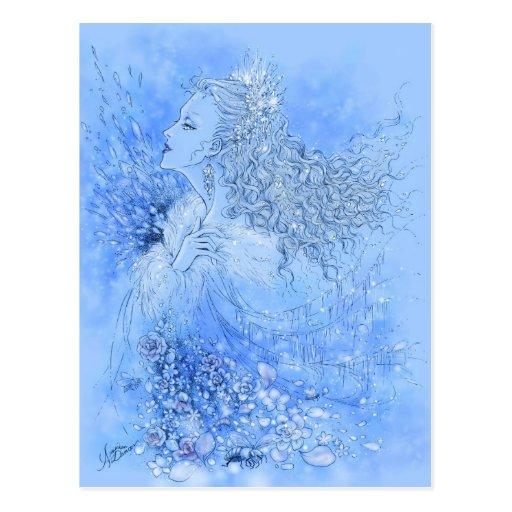 Postal de la reina de la nieve