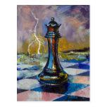 Postal de la reina del ajedrez