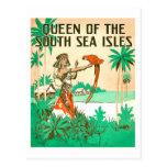 Postal de la reina del mar del sur