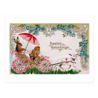 Postal de la reproducción de la tarjeta de pascua