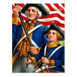 Postal de la revolución americana de julio del cua