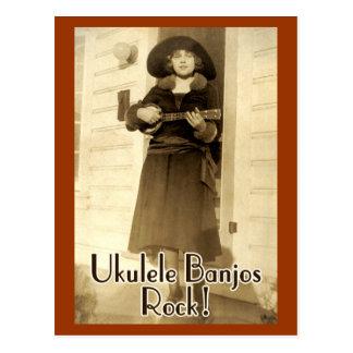 Postal de la roca de los banjos de Uke