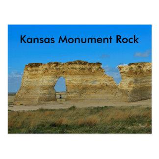POSTAL de la roca del monumento de Kansas