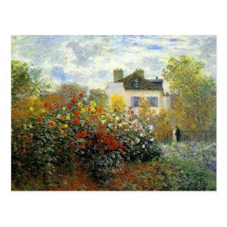 Postal de la rosaleda de Monet