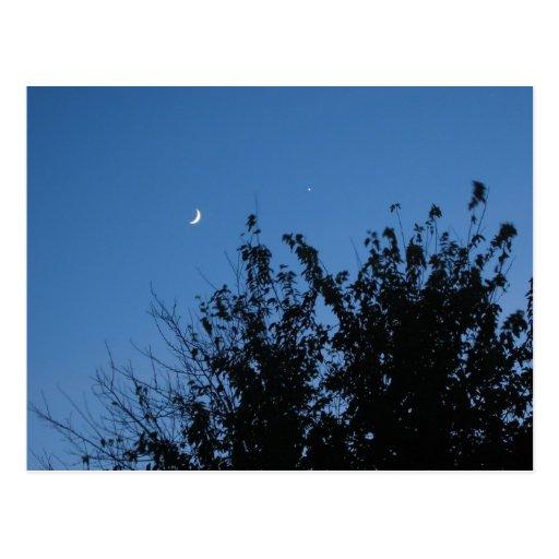 Postal de la salida de la luna