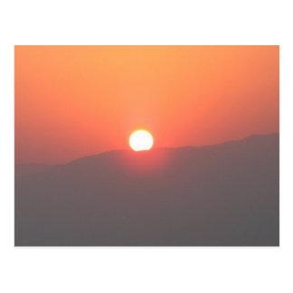 Postal de la salida del sol de Israel Masada - mod