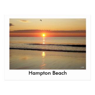 Postal de la salida del sol de la playa de Hampton