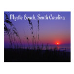 Postal de la salida del sol de Myrtle Beach Caroli