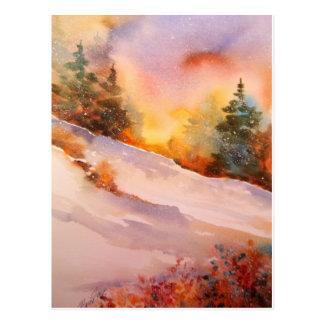 Postal de la salida del sol del invierno de Pennsy