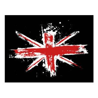 Postal de la salpicadura de Union Jack