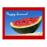 Postal de la sandía del verano