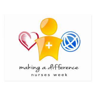 Postal de la semana de las enfermeras