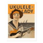 Postal de la señora #2 del Ukulele