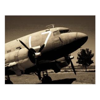 Postal de la sepia del C-47