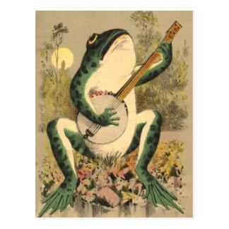 Postal de la serenata de la rana