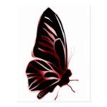 Postal de la silueta de la mariposa del efecto del