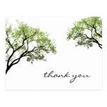 Postal de la silueta de los árboles de la primaver