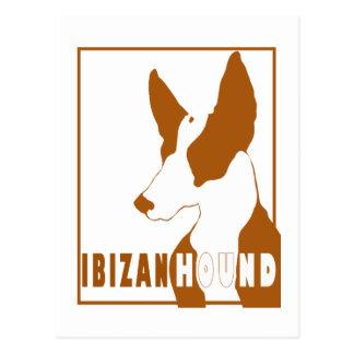 Postal de la silueta del perro de Ibizan