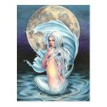 Postal de la sirena de la luna