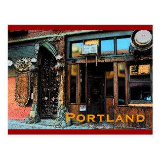 Postal de la taberna de Portland