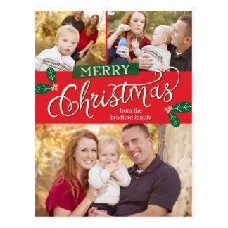 Postal de la tarjeta de la foto de las Felices