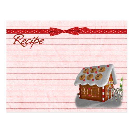 Postal de la tarjeta de la receta de la casa de pa